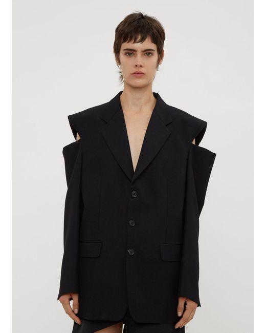 Maison Margiela - Cut Out Blazer In Black - Lyst