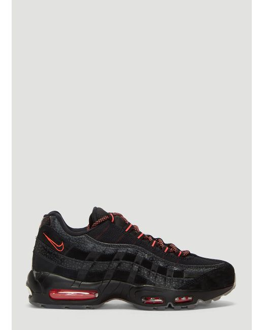31b2d332092a Lyst - Nike Air Max 95 Leather Sneakers In Black in Black for Men