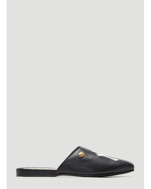 f7e949c8ccc Lyst - Gucci Ny Yankees Patch Slippers In Black in Black for Men