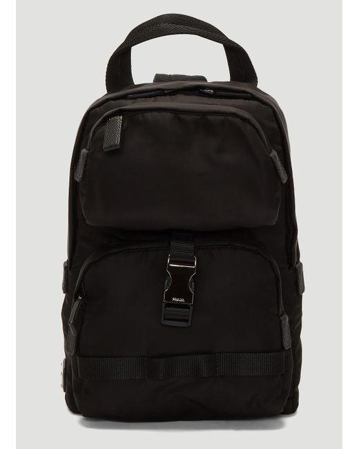 aed919b0763e Lyst - Prada Fabric Shoulder Strap Backpack In Black in Black for Men