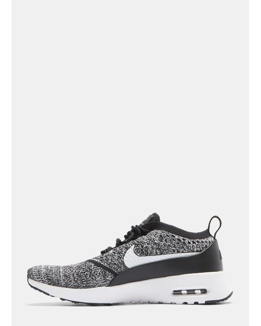 new concept 8744f 19dce ... Nike - Air Max Thea Ultra Flyknit Sneakers In Black And White for Men -  Lyst ...