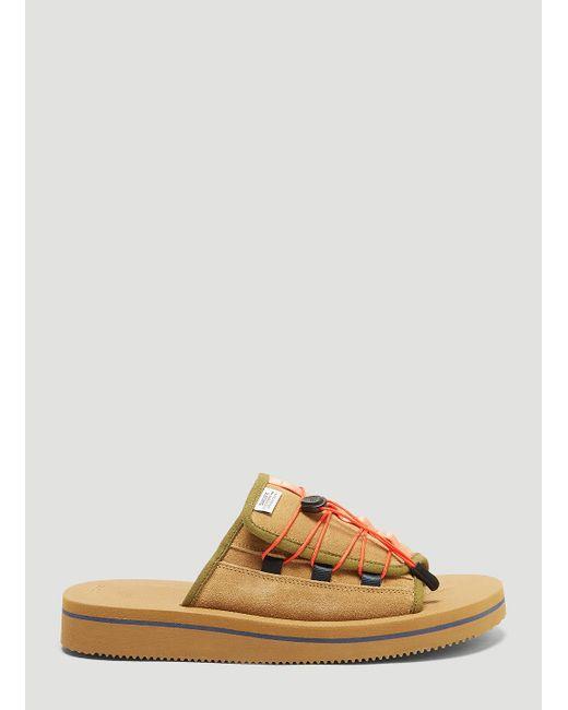 Suicoke - Natural Olas Ab Suede Sandals In Beige for Men - Lyst