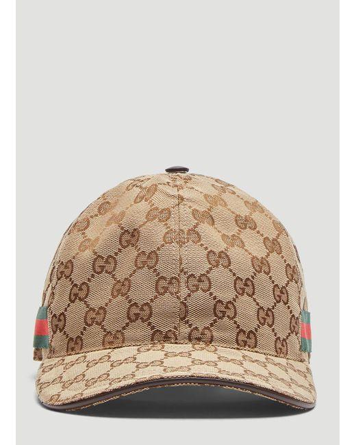 54384c9c05acc3 Gucci - Natural Original GG Canvas Web Baseball Cap In Beige for Men - Lyst  ...