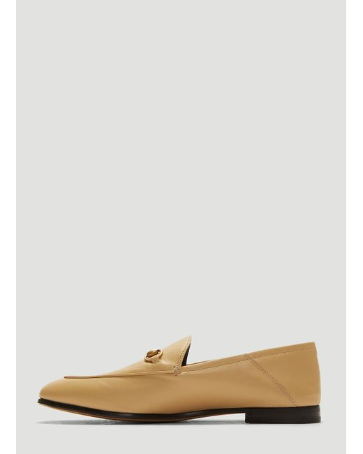 dc1942503c2 ... Gucci - Natural 10mm Brixton Leather Loafers - Lyst ...