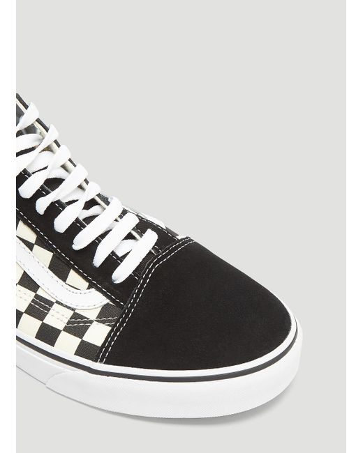 c4f260af87 ... Vans - Gum Block Checker Authentic Lace-up Sneakers In Black for Men -  Lyst