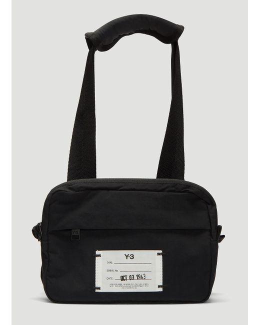 Lyst - Y-3 Logo Cross Body Bag In Black in Black for Men 8067650ccb5f3