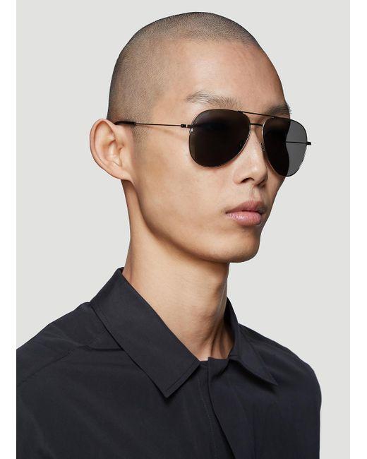 c1c4e5f76bc ... Saint Laurent - Metallic Classic 11 Sunglasses In Silver for Men - Lyst  ...