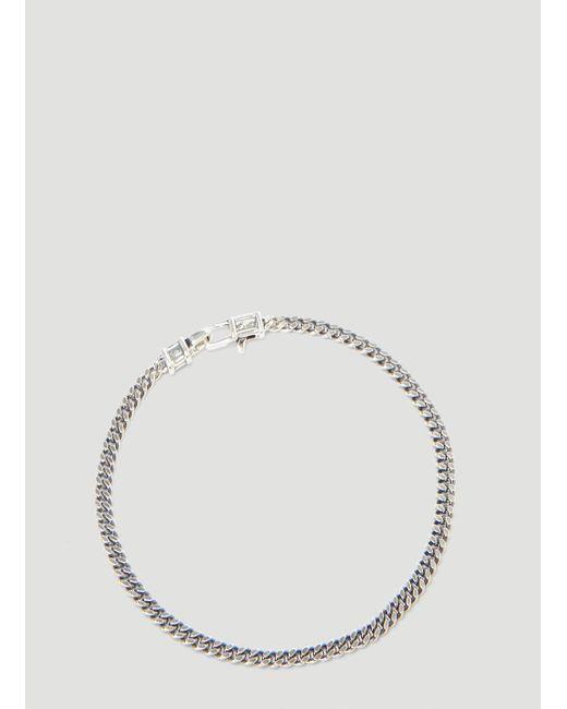Tom Wood Metallic 7 Inch Silver Curb Bracelet In For Men Lyst