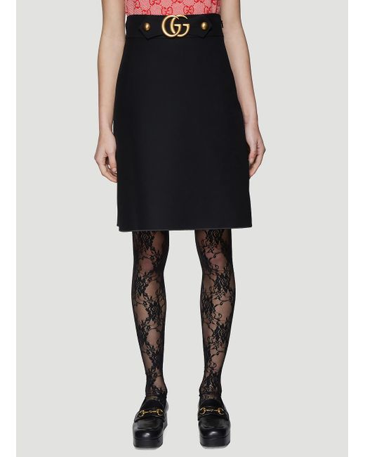 ba674896dc Gucci GG Skirt In Black in Black - Save 43% - Lyst