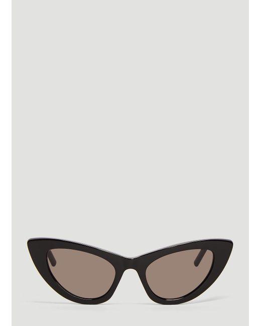 5db558e32ec Lyst - Saint Laurent Sl 213 Lily Sunglasses In Black in Black for Men