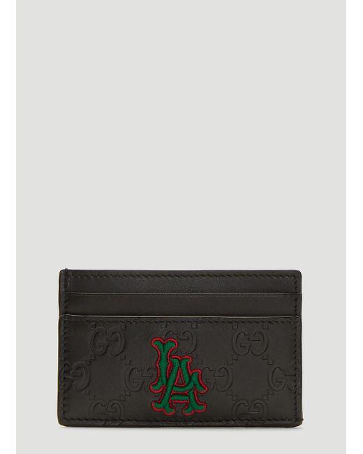 35e0a5167677 Gucci Black La Angels Edition GG Card Holder in Black for Men - Save ...