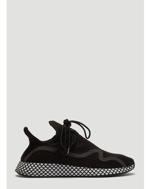 a4be1db3b adidas Deerupt S Sneakers In Black in Black for Men - Lyst