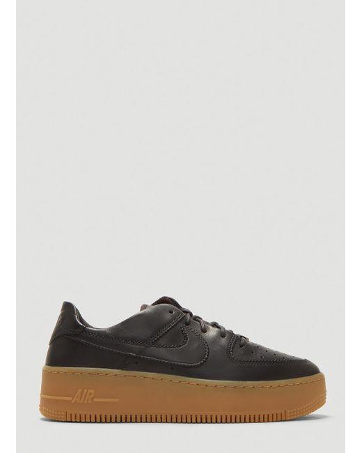 Women's Air Force 1 Sage Low Lx Sneakers In Black