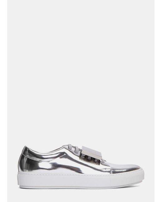 Acne | Women's Adriana Metallic Sneakers In Silver | Lyst
