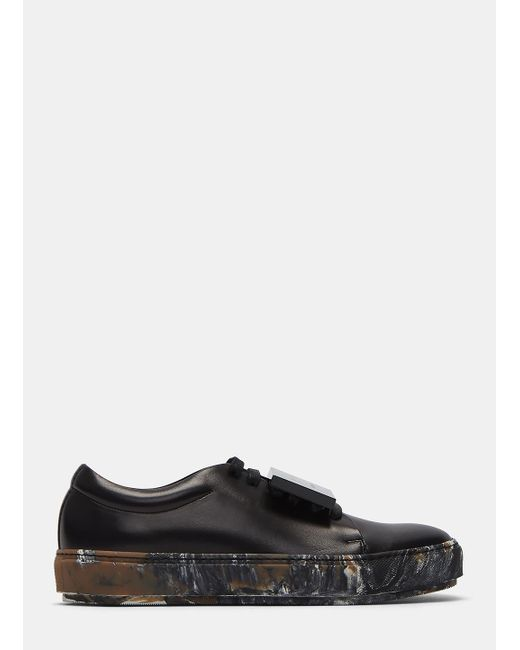 Acne Studios | Women's Adriana Marbled Sole Sneakers In Black | Lyst