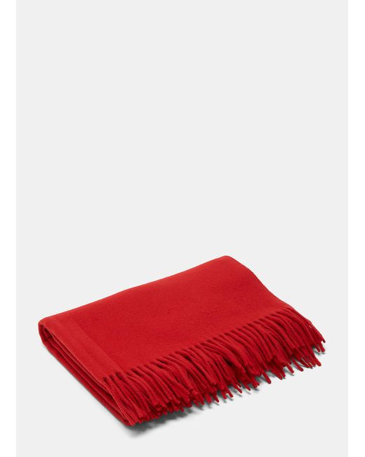 Acne | Unisex Canada Wool Scarf In Red for Men | Lyst