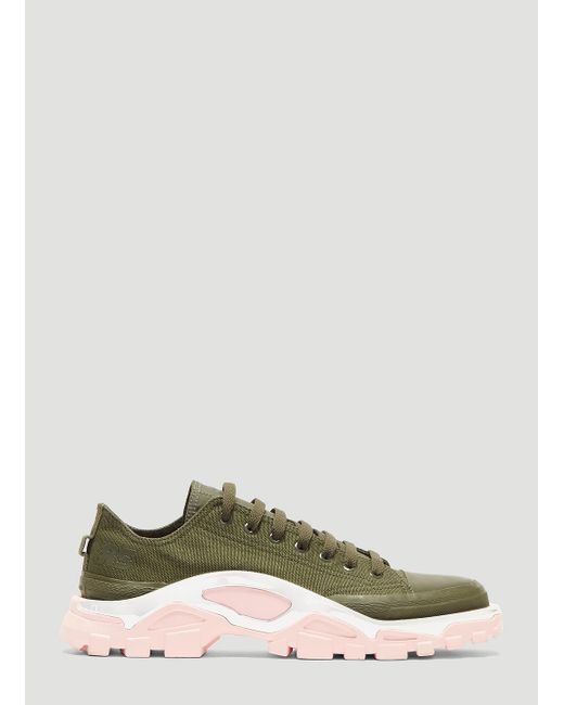 timeless design 6f591 99902 Adidas By Raf Simons - Multicolor Detroit Runner Sneakers In Khaki - Lyst  ...