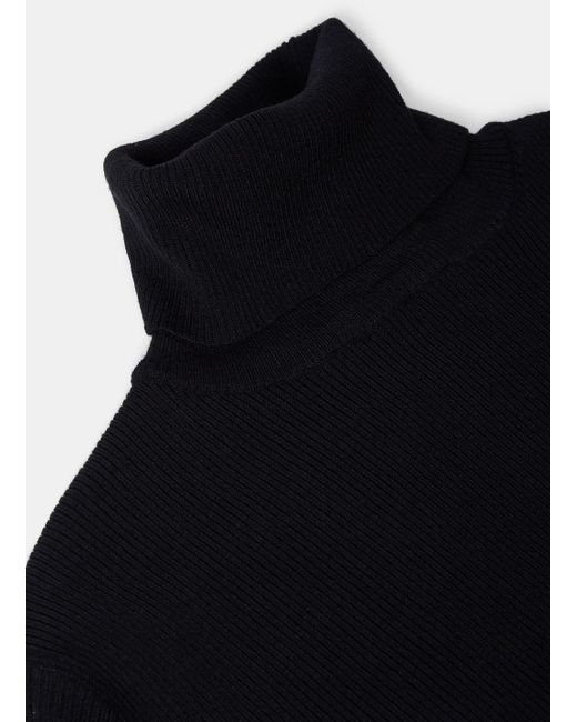 88231a4c6 ... Aiezen - Men s Ribbed Polo Neck Sweater From Ss15 In Black for Men -  Lyst