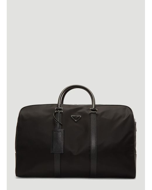 Prada - Black Nylon And Saffiano Leather Duffle Bag for Men - Lyst ... ccac7b544ca11