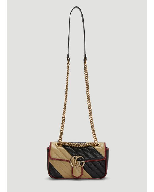 a31129003 Gucci GG Marmont Small Shoulder Bag In Black in Black - Lyst
