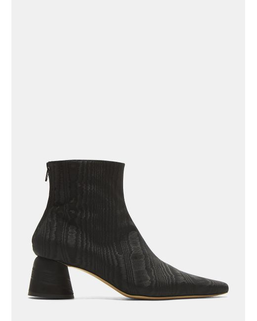 Ellery - Moire Pointed Ankle Boots In Black - Lyst