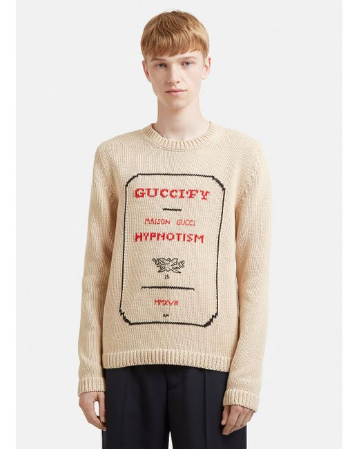 Gucci - Natural Fy Hypnotism Sweater for Men - Lyst