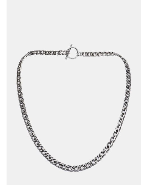 Saint Laurent | Metallic Silver Tone Chain Necklace for Men | Lyst