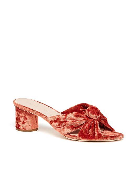 Loeffler Randall - Red Celeste Mid Heel Knot Slide - Lyst