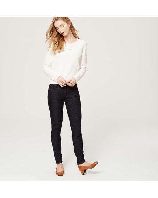 LOFT | Blue Tall Modern Skinny Jeans In Dark Rinse Wash | Lyst