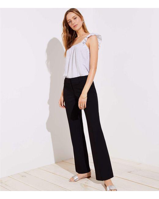 LOFT - Black Tall Trousers In Custom Stretch In Julie Fit - Lyst