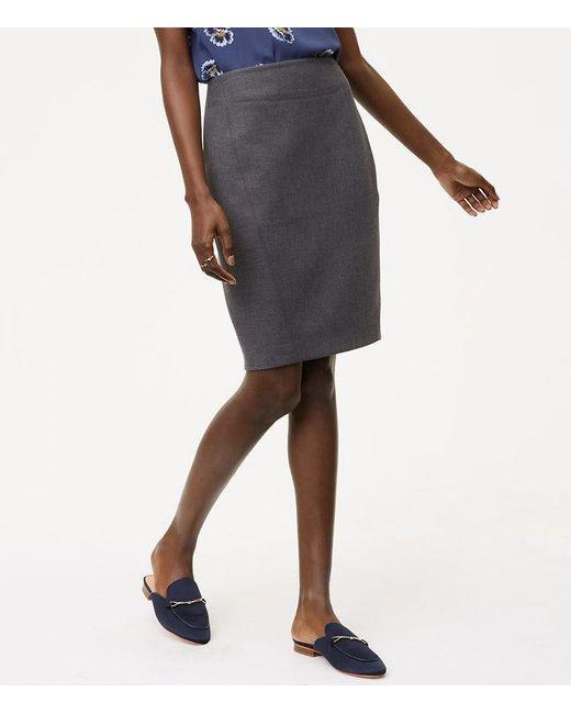 LOFT   Multicolor Curvy Seamed Scuba Pencil Skirt   Lyst