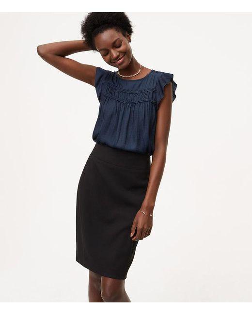 LOFT   Black Petite Seamed Scuba Pencil Skirt   Lyst