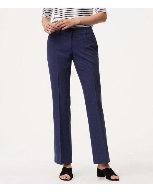 LOFT - Blue Tall Trousers In Custom Stretch In Julie Fit - Lyst