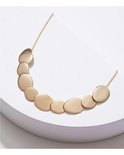 LOFT - Metallic Matte & Polished Disc Necklace - Lyst