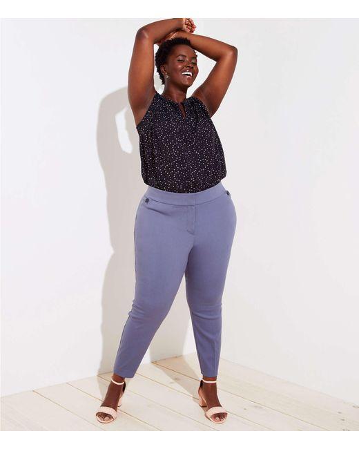 LOFT - Blue Plus Skinny Ankle Pants - Lyst