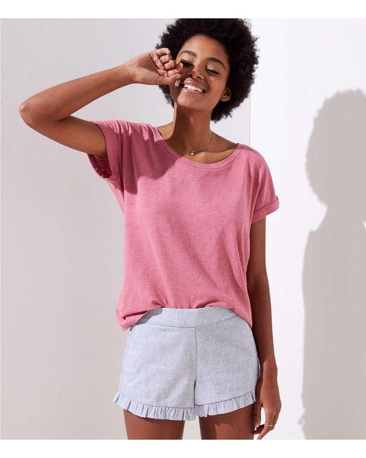 LOFT - Pink Vintage Soft Cuffed Tee - Lyst