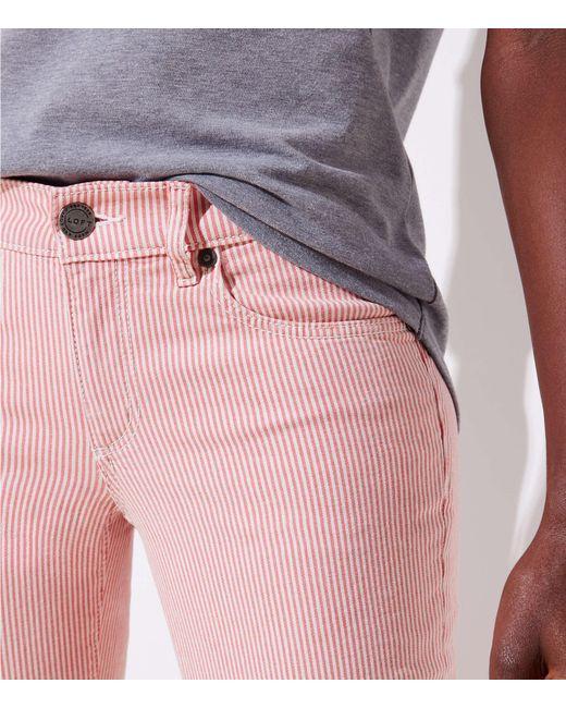 LOFT - Petite Modern Skinny Crop Jeans In Railroad Red - Lyst