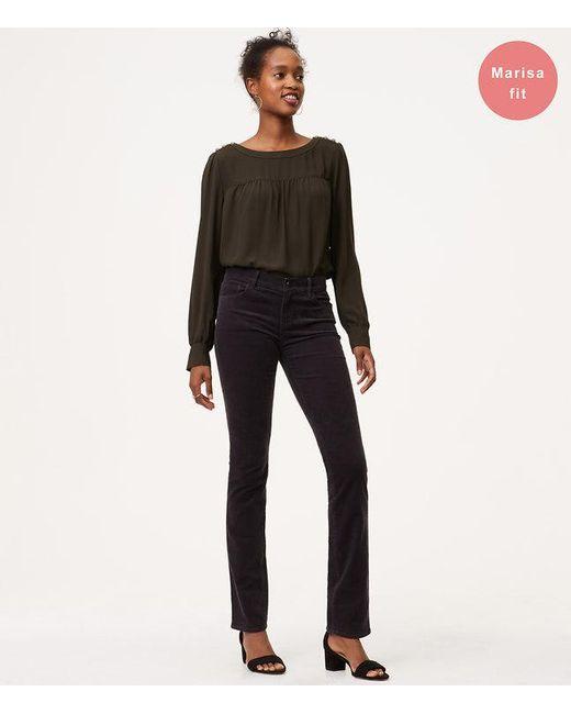 LOFT | Multicolor Petite Modern Straight Leg Corduroy Pants | Lyst