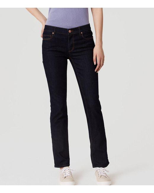 LOFT - Blue Petite Curvy Skinny Jeans In Dark Rinse Wash - Lyst