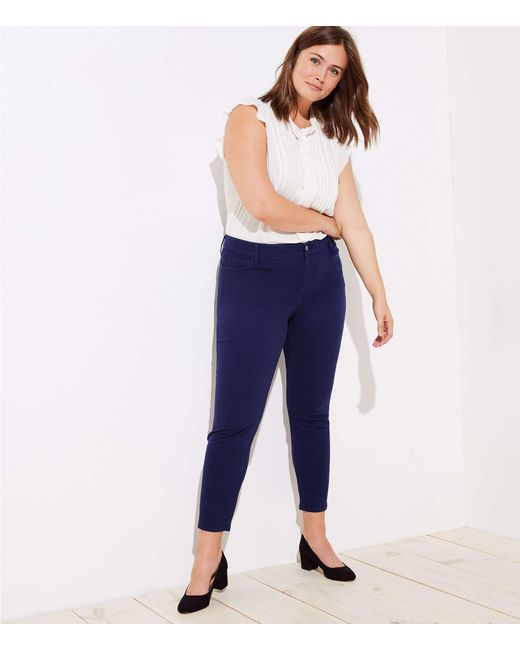 LOFT - Blue Plus Leggings In Brushed Sateen - Lyst