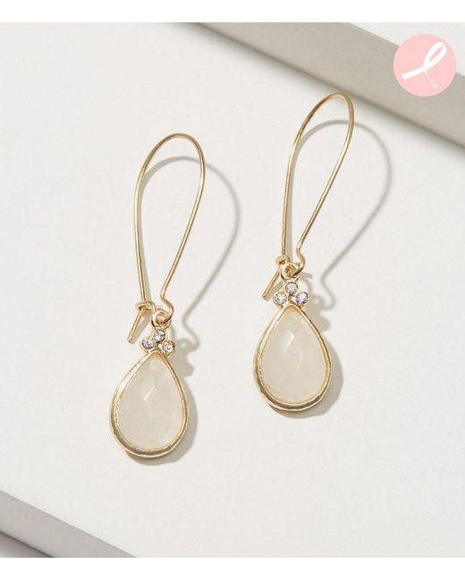 LOFT   Metallic Stone Drop Earrings   Lyst