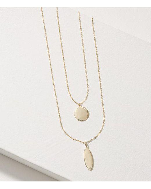 LOFT | Metallic Gilded Pendant Layering Necklace Set | Lyst
