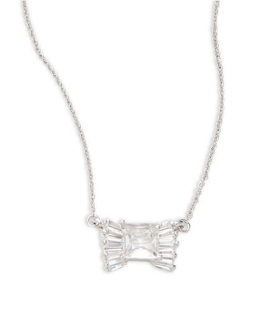 Kate Spade Pearl Bow Necklace: Kate Spade Le Soir Crystal Bow Pendant Necklace In