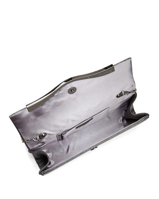 la regale metallic clutch in multicolor gunmetal lyst. Black Bedroom Furniture Sets. Home Design Ideas