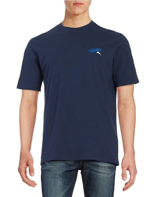 Tommy Bahama Home Rum Graphic Tee In Blue For Men Navy