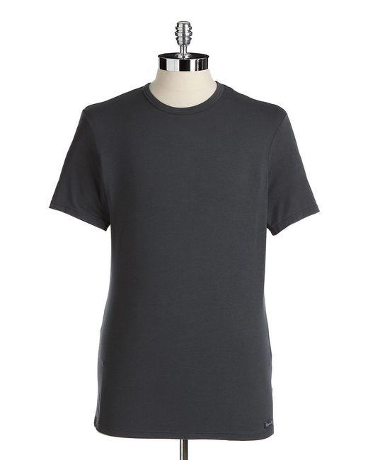 Calvin Klein | Gray Stretch Modal Tee for Men | Lyst