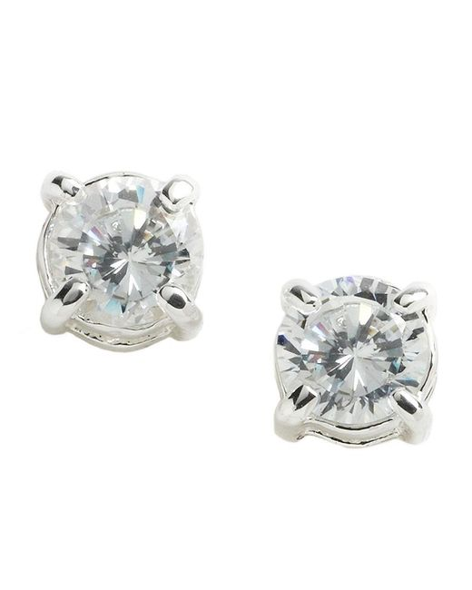 Lauren by Ralph Lauren | Metallic Cubic Zirconia Stud Earrings | Lyst