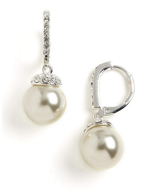 Givenchy | Metallic Pearl Drop Earrings | Lyst