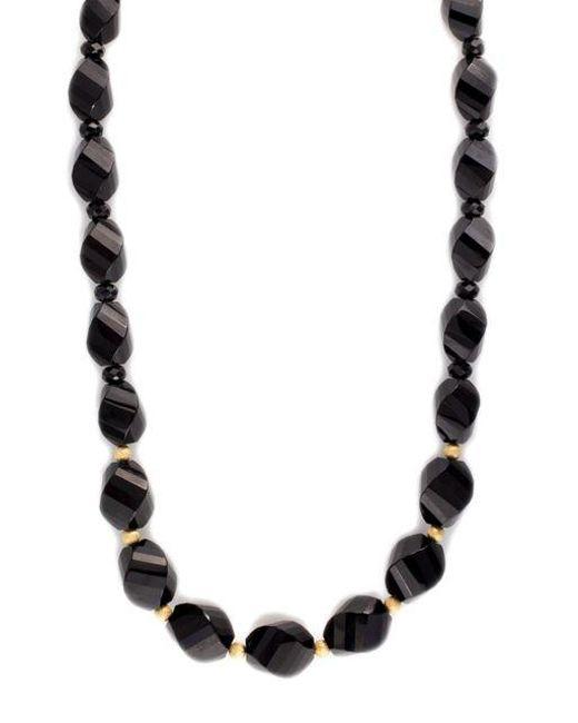 Effy | Black Onyx Necklace In 14k Yellow Gold | Lyst