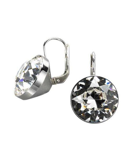 Swarovski   Metallic Bezel-set Crystal Drop Earrings   Lyst